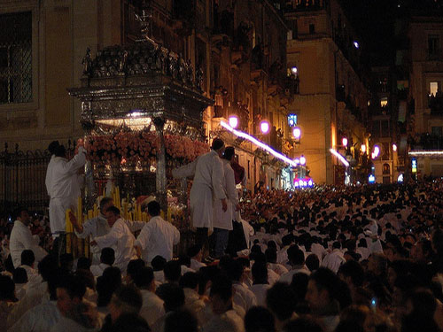 Procession of Saint Agata - Author LaPetra